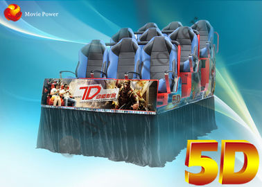 3D Glasses Dynamic Rain Fire 5D Movie Theater Dengan Body Motion Seater