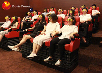 Cina Black / White / Red Seat 4D Movie Theater, Peralatan Realitas Virtual Untuk Taman Hiburan pabrik