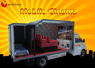Cina Multipemain 6/9/12 Kursi 7D Movie Theater / Theme Park Truck Mobile 5D Cinema pabrik