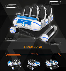 9.5KW 9D VR Cinema, 6 Kursi 6 Dof Platform Amusement Park VR Game Machine