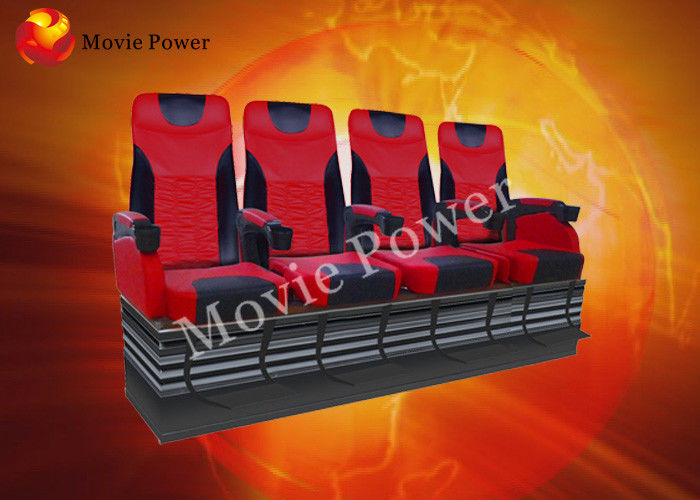 Cina Pneumatic / Hydraulic Air Injection Leg Sweep 4D Motion Theatre Seats pabrik