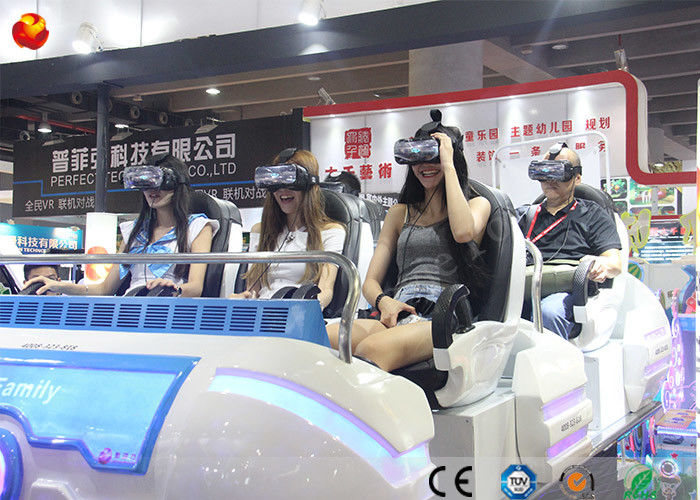 Multiplayer Game Machine 9D VR Family Cinema dengan 360 Rotated Helmet