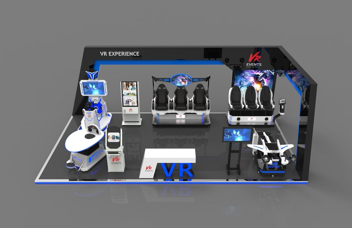 Peralatan bermain VR anak-anak di luar ruangan VR theme park one stop design play zone vr 9d virtual reality cinema