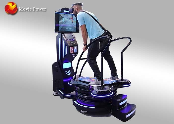 Black & Blue Standing Up 9D VR Surfing Motion Simulator Permainan Hiburan Interaktif