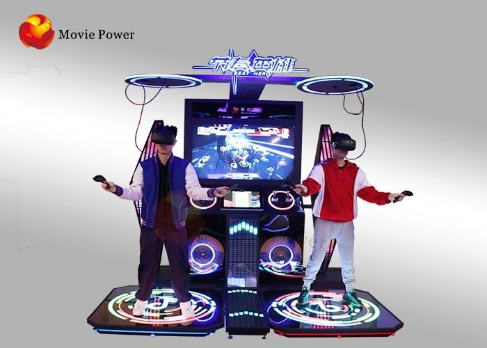 3 ㎡ Virtual Reality Simulator, Pahlawan Berirama Two - Man War VR Music Arcade Dancing Game Machine
