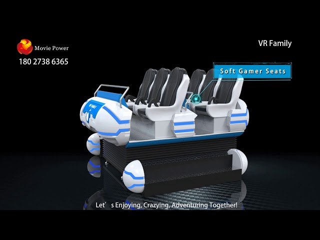6 Seat Damily Game 9D VR Cinema 10 Meter Persegi Area, ISO9001 SGS